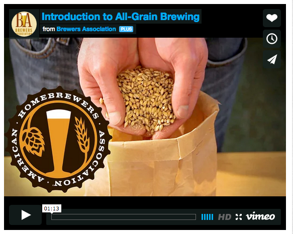 Introduction to All Grain Brewing by the AHA.