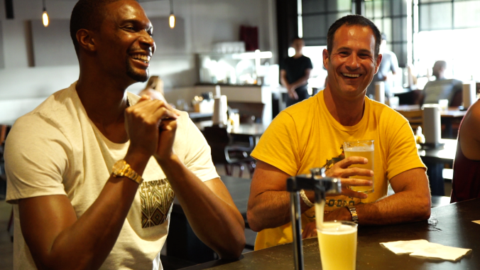 Chris Bosh and Sam Calagione in That's Odd...Let's Drink It!