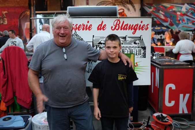 Pierre-Alex and grandson, Ethan at la Modeste Bier Festival in Antwerp, Belgium (Oct. 4, 2015).