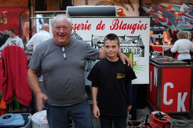 Pierre-Alex and grandson, Ethan at la Modeste Bier Festival in Antwerp, Belgium (Oct. 4, 2015).
