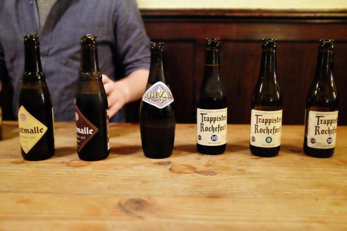 Belgian Beer Lineup at Jimmys