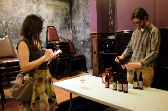 Taking some notes on the selected bottles of Triporteur.