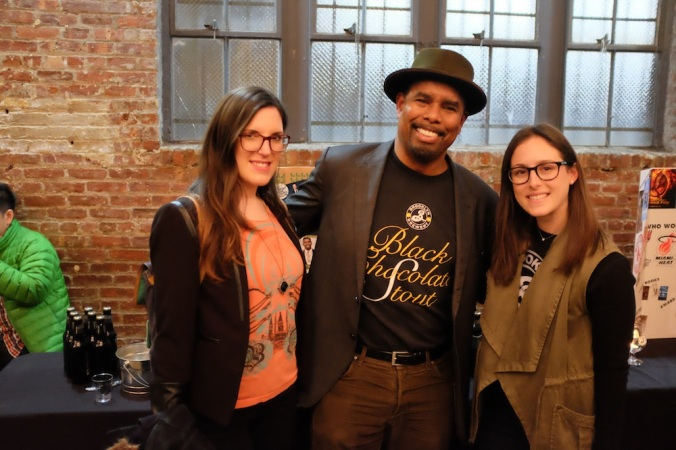 BeerAffair's Cat Wolinski and Brooklyn Brewery's Garrett Oliver and Samantha Bernstein