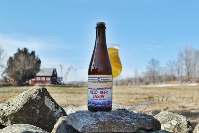 Kent Falls Brewing's Field Beer, brewed with 100% Connecticut-grown ingredients.