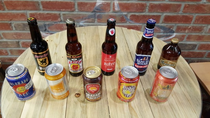 The brews included in the Peyton Manning craft beer care package. via the Brewers Association