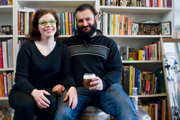 Mary Izett and Chris Cuzme. via Brooklyn Magazine