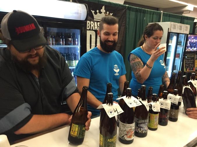 Brasserie Dunham bottle lineup at Mondial de la bière 2016.