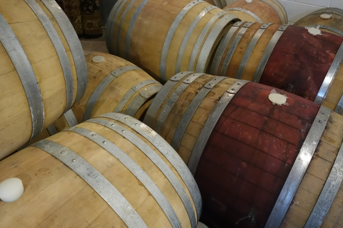 Garden Grove Brewing and Urban Winery - Wine Barrels